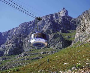 Cable car in Cape Town South Africa